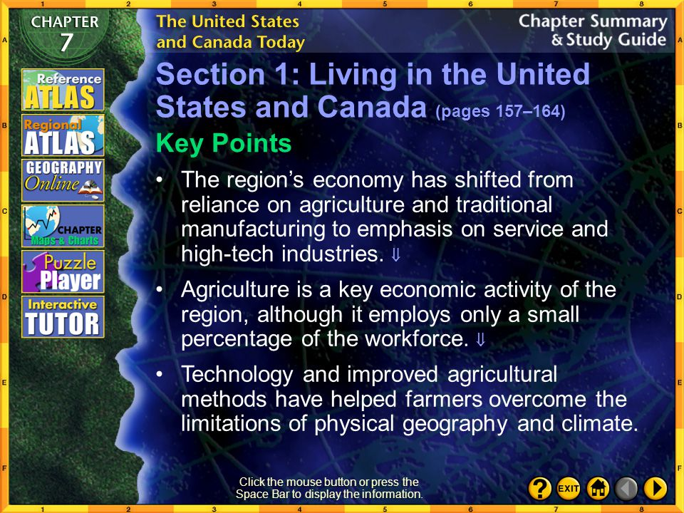 Section 1: Living in the United States and Canada (pages 157–164)