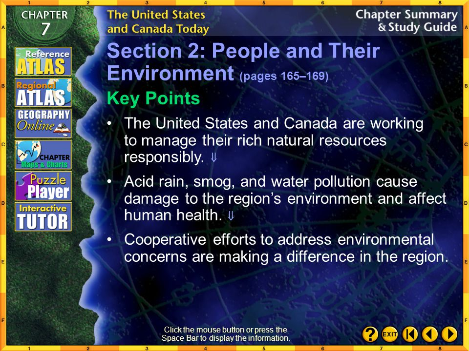 Section 2: People and Their Environment (pages 165–169)