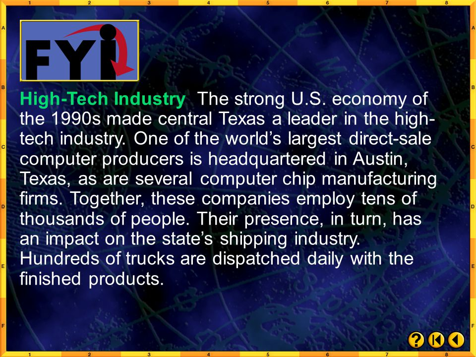 High-Tech Industry The strong U. S
