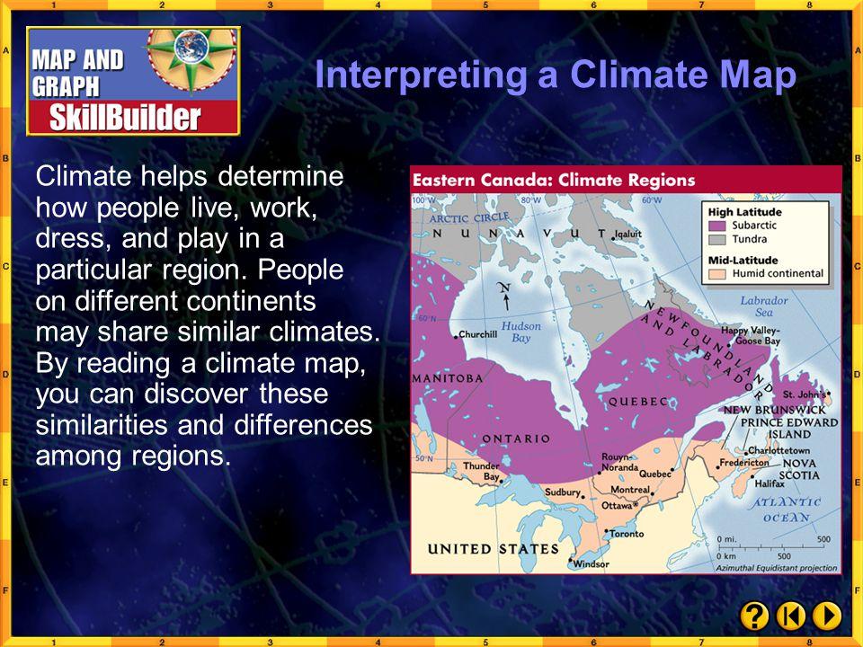 Interpreting a Climate Map