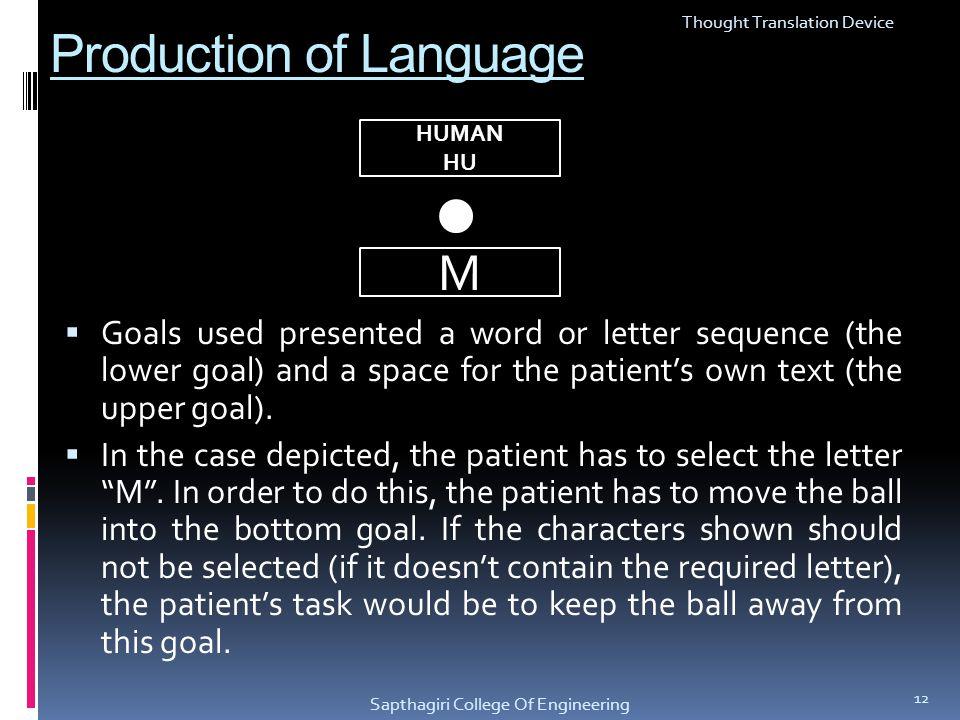 Production of Language