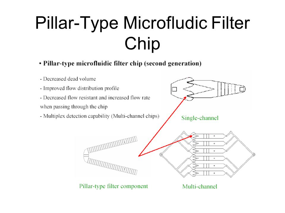Pillar-Type Microfludic Filter Chip