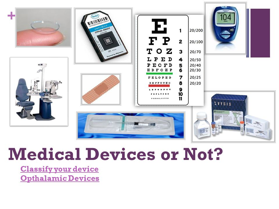 Medical Devices or Not Classify your device Opthalamic Devices