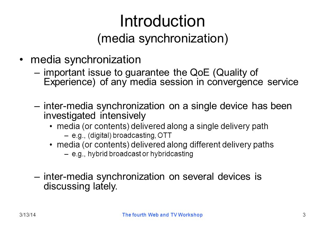 Introduction (media synchronization)