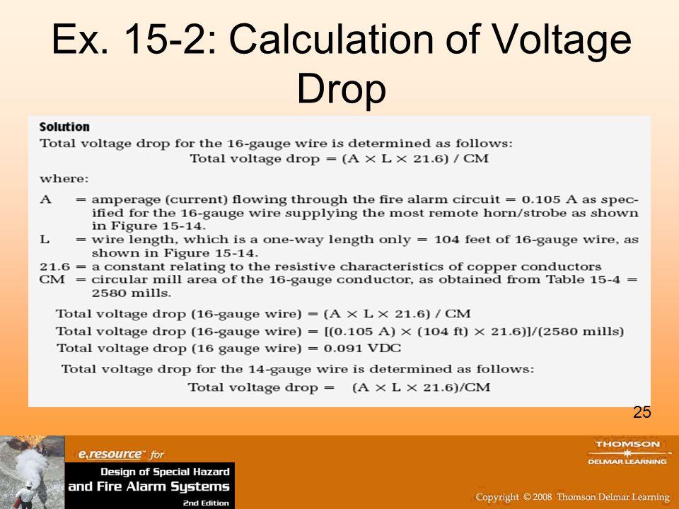Ex. 15-2: Calculation of Voltage Drop