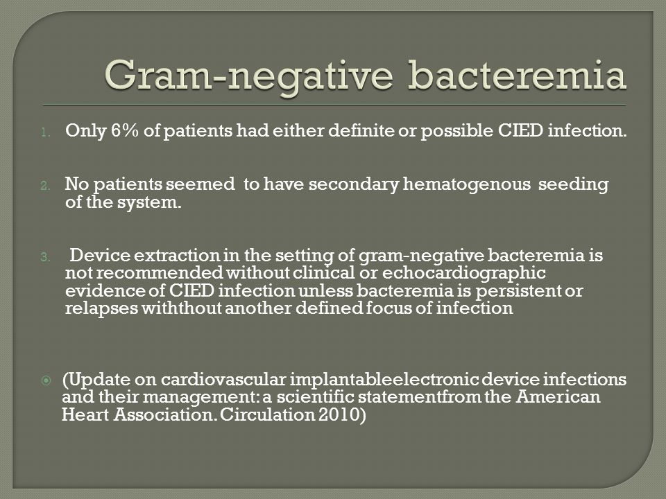 Gram-negative bacteremia