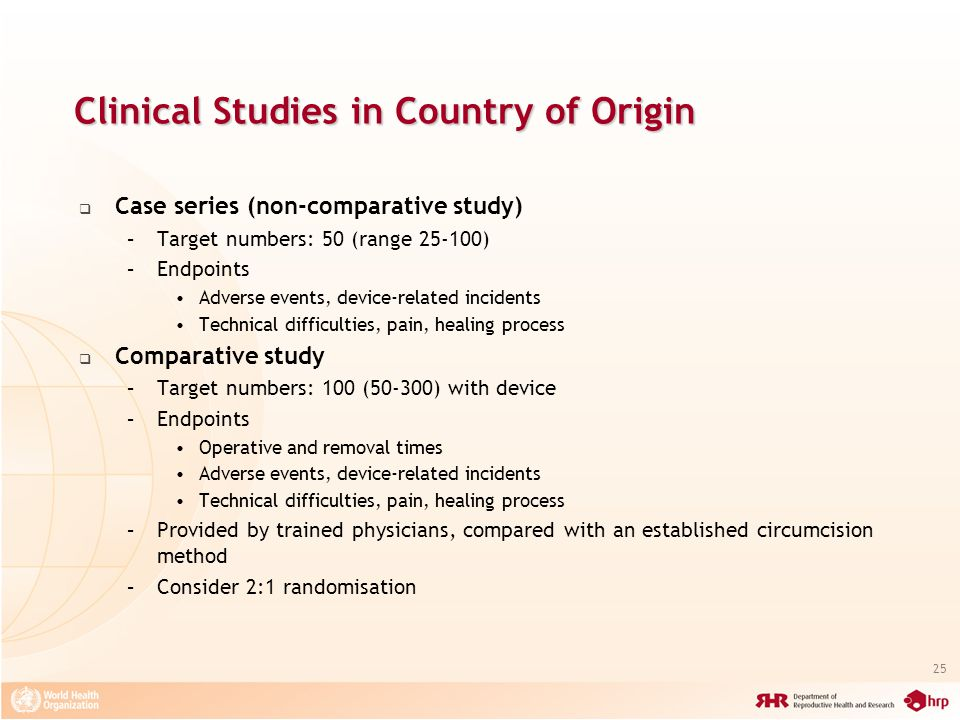 Clinical Studies in Country of Origin