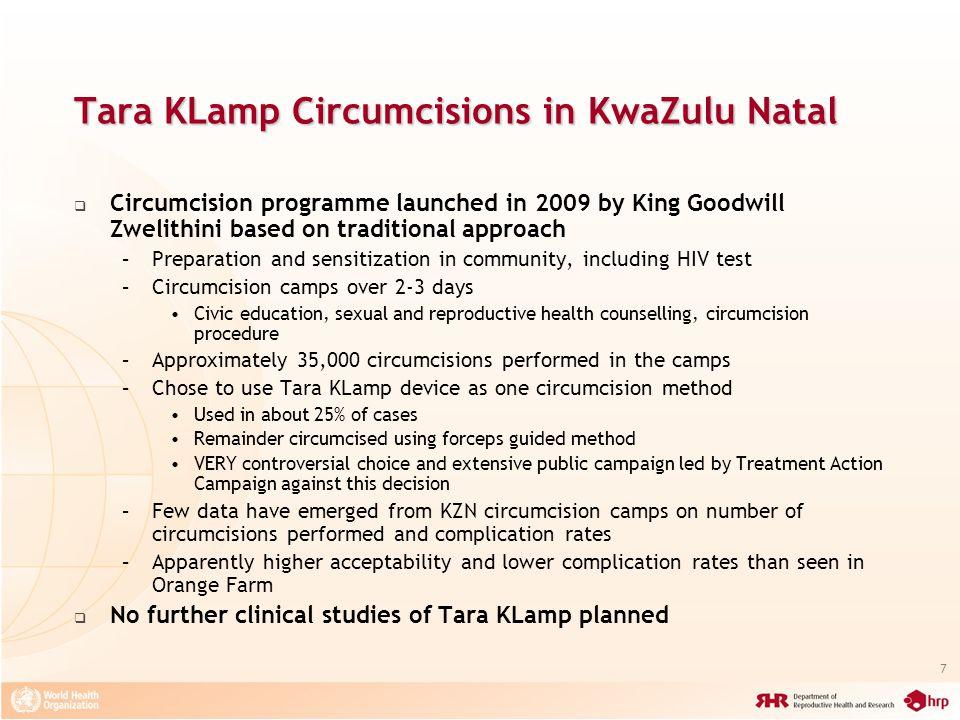 Tara KLamp Circumcisions in KwaZulu Natal