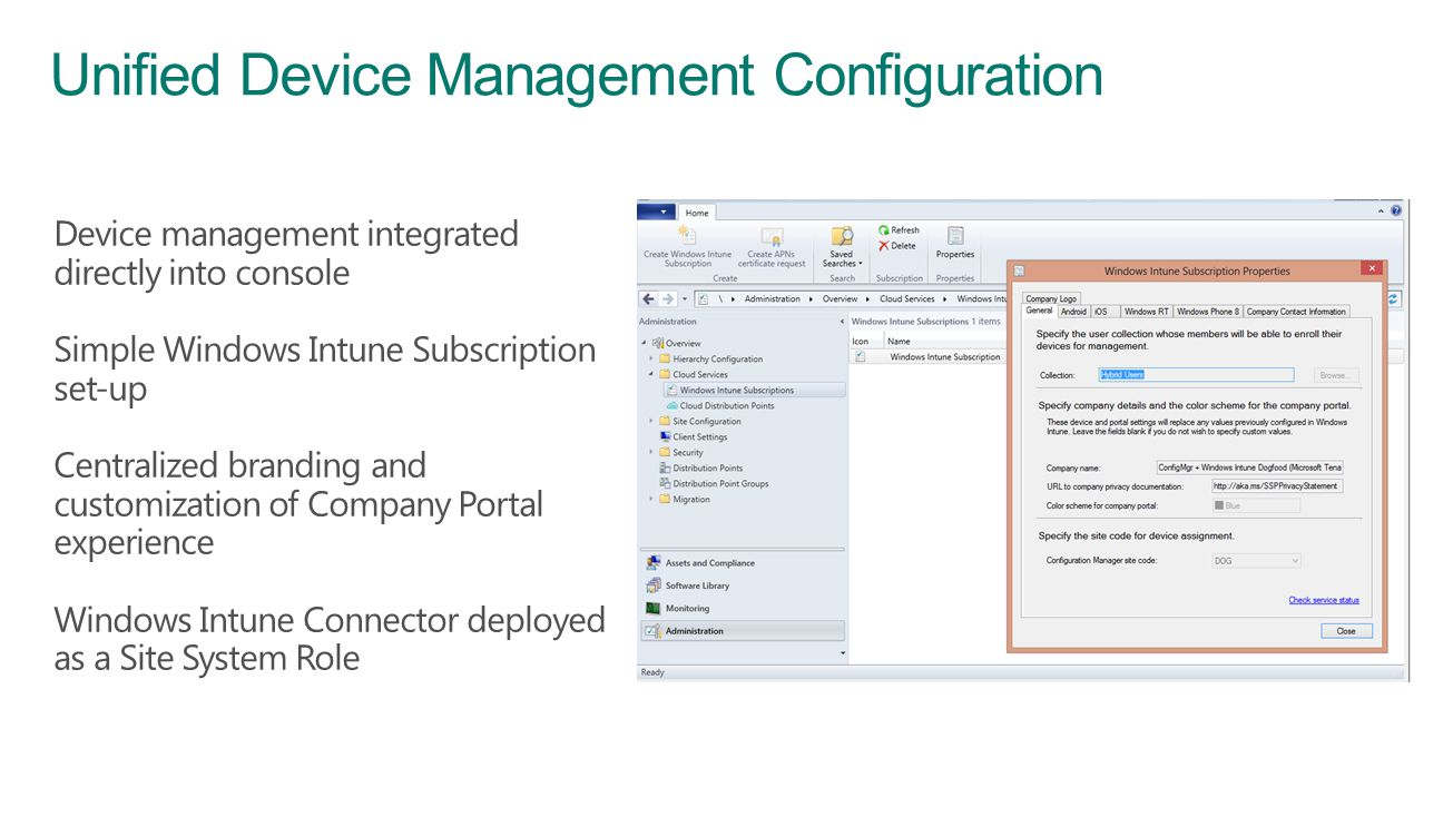 Unified Device Management Configuration