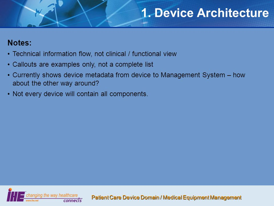 1. Device Architecture Notes: