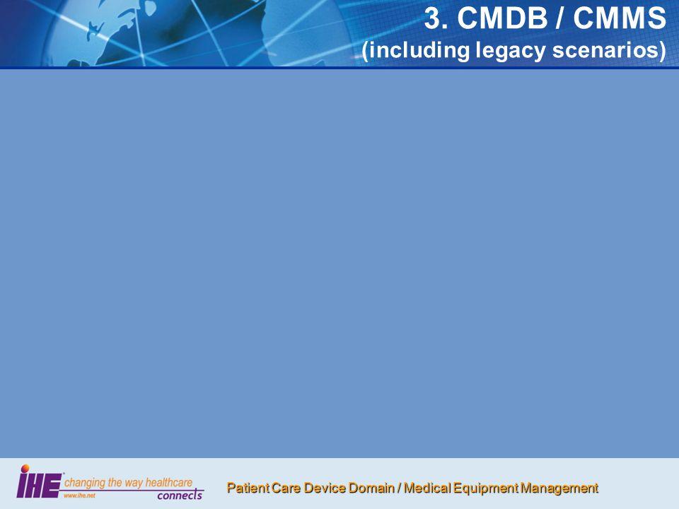 3. CMDB / CMMS (including legacy scenarios)