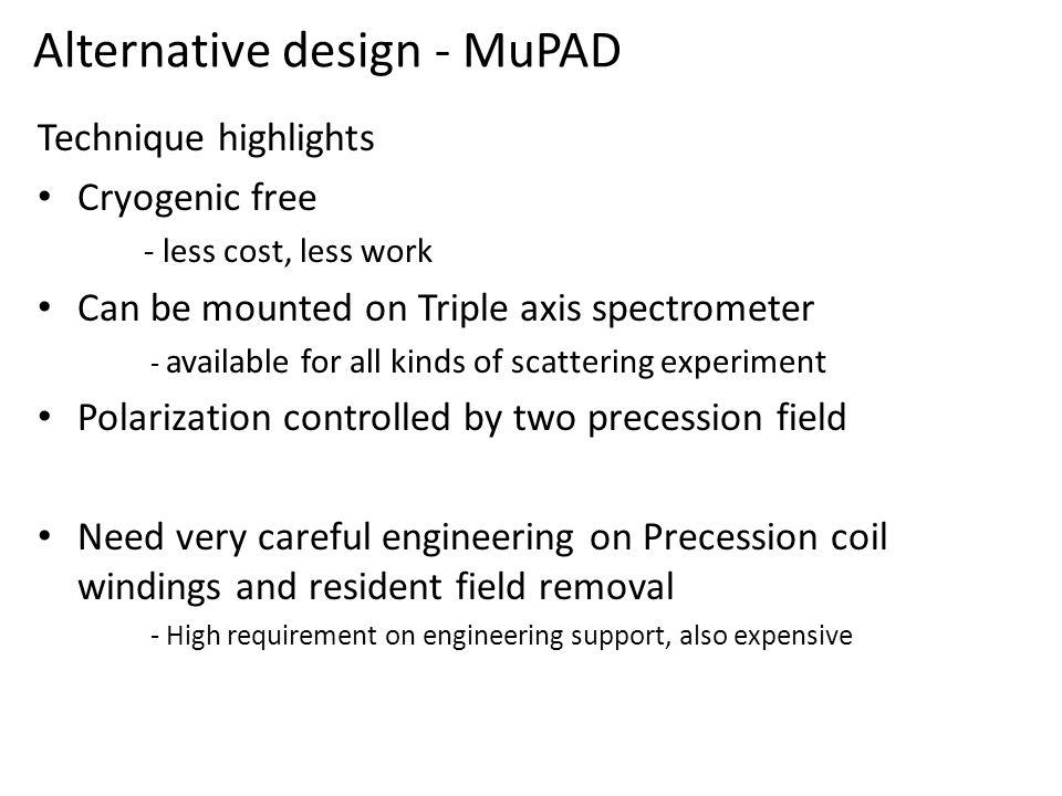 Alternative design - MuPAD
