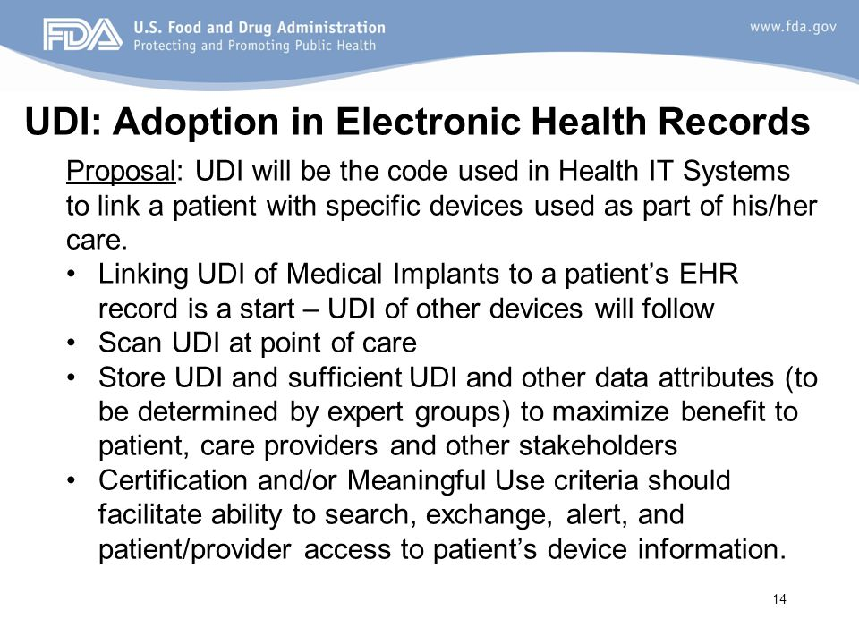 UDI: Adoption in Electronic Health Records