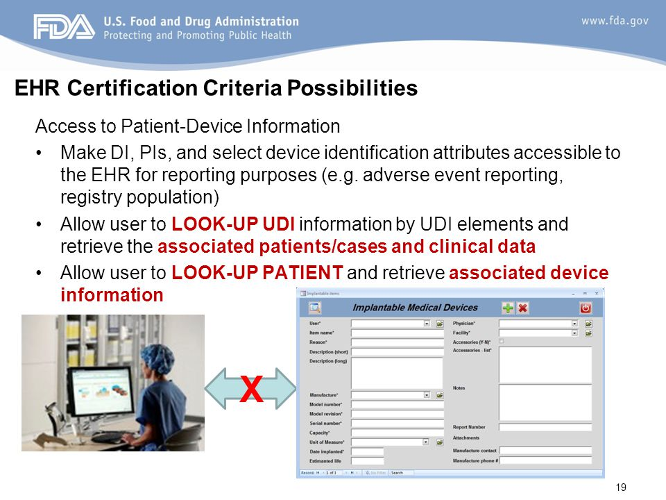EHR Certification Criteria Possibilities