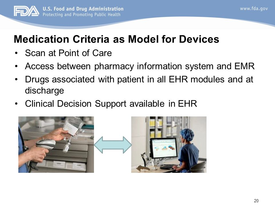 Medication Criteria as Model for Devices