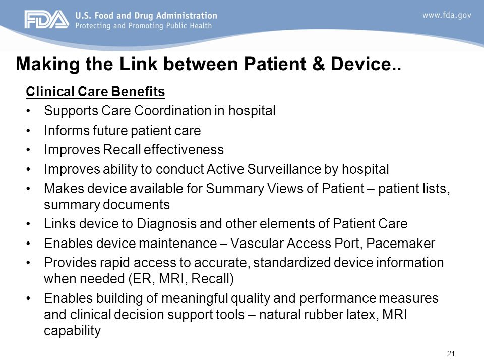 Making the Link between Patient & Device..
