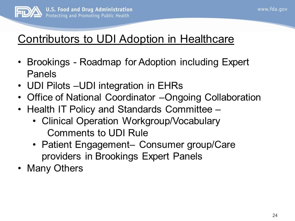 Contributors to UDI Adoption in Healthcare