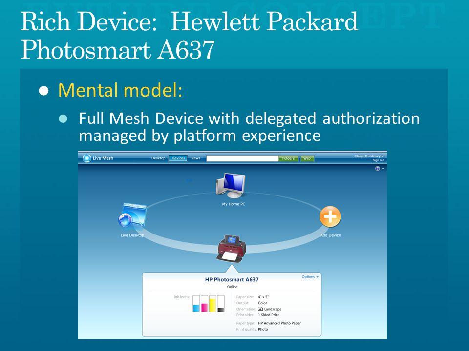 Rich Device: Hewlett Packard Photosmart A637