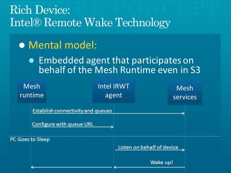 Rich Device: Intel® Remote Wake Technology