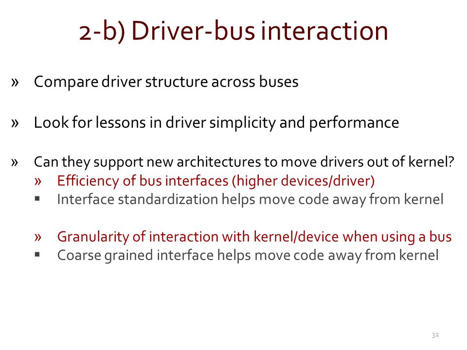 2-b) Driver-bus interaction