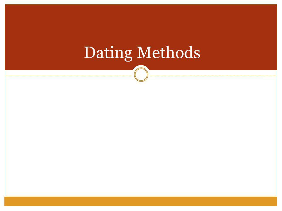 archaeological dating methods ppt background
