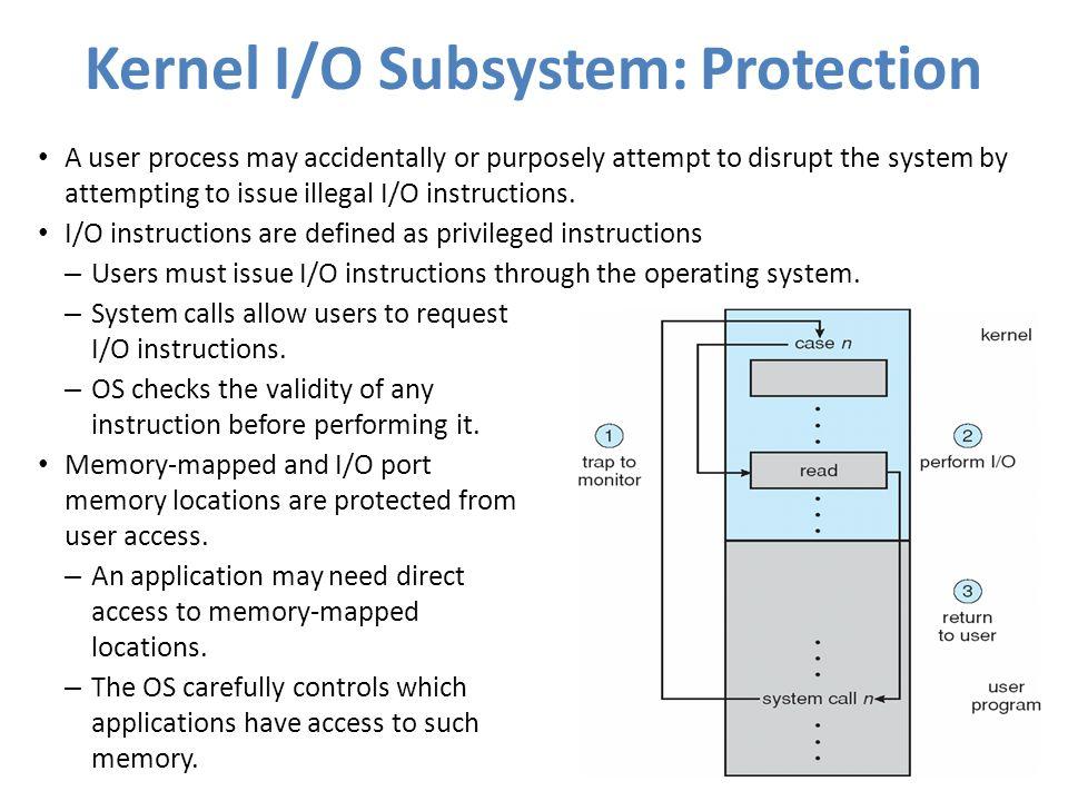 Kernel I/O Subsystem: Protection