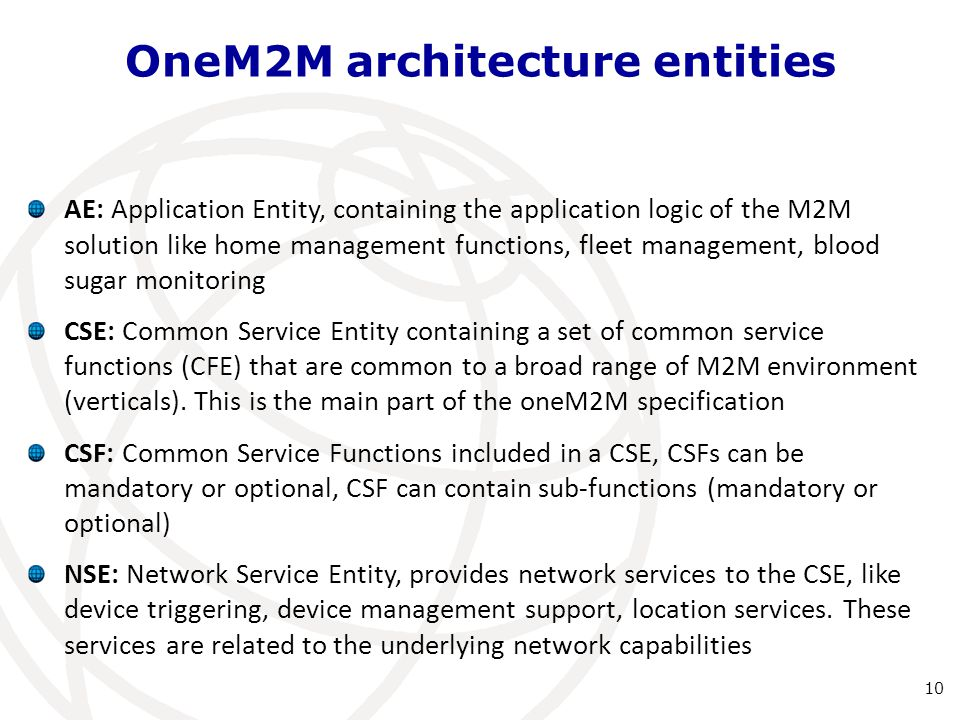 OneM2M architecture entities
