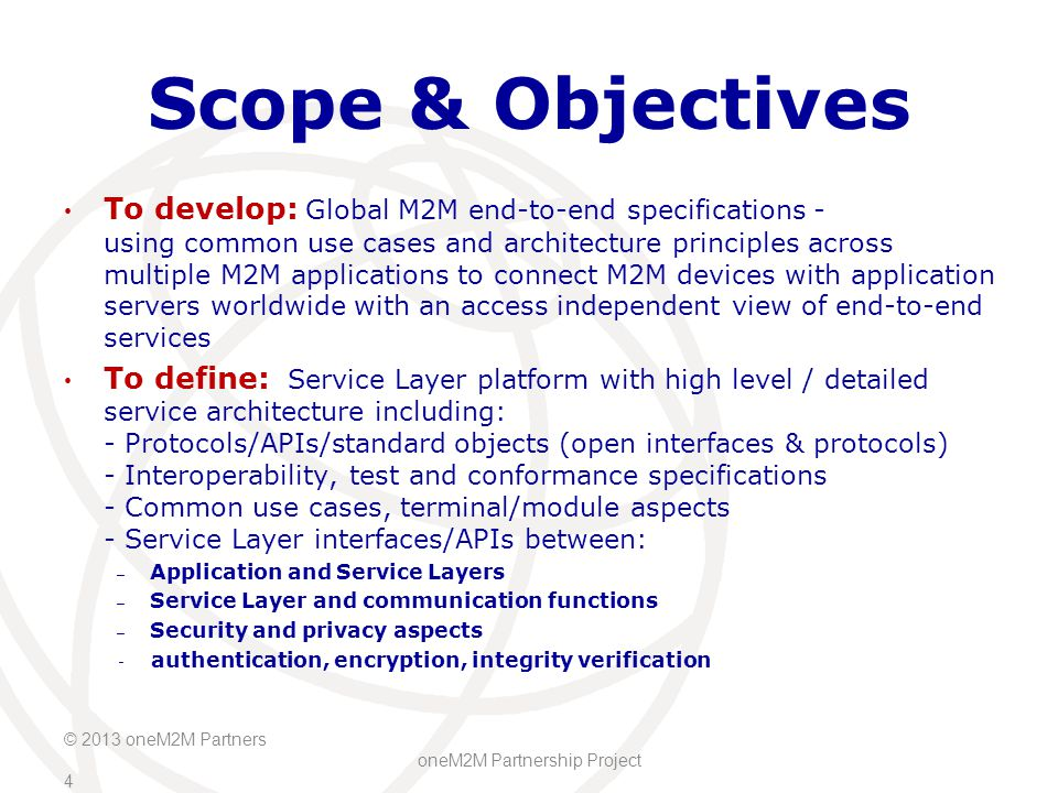 Scope & Objectives