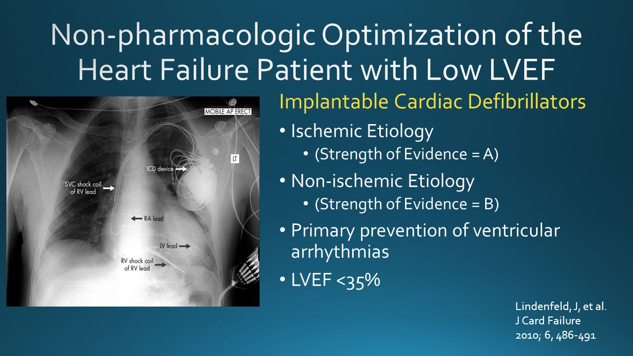 Non-pharmacologic Optimization of the Heart Failure Patient with Low LVEF