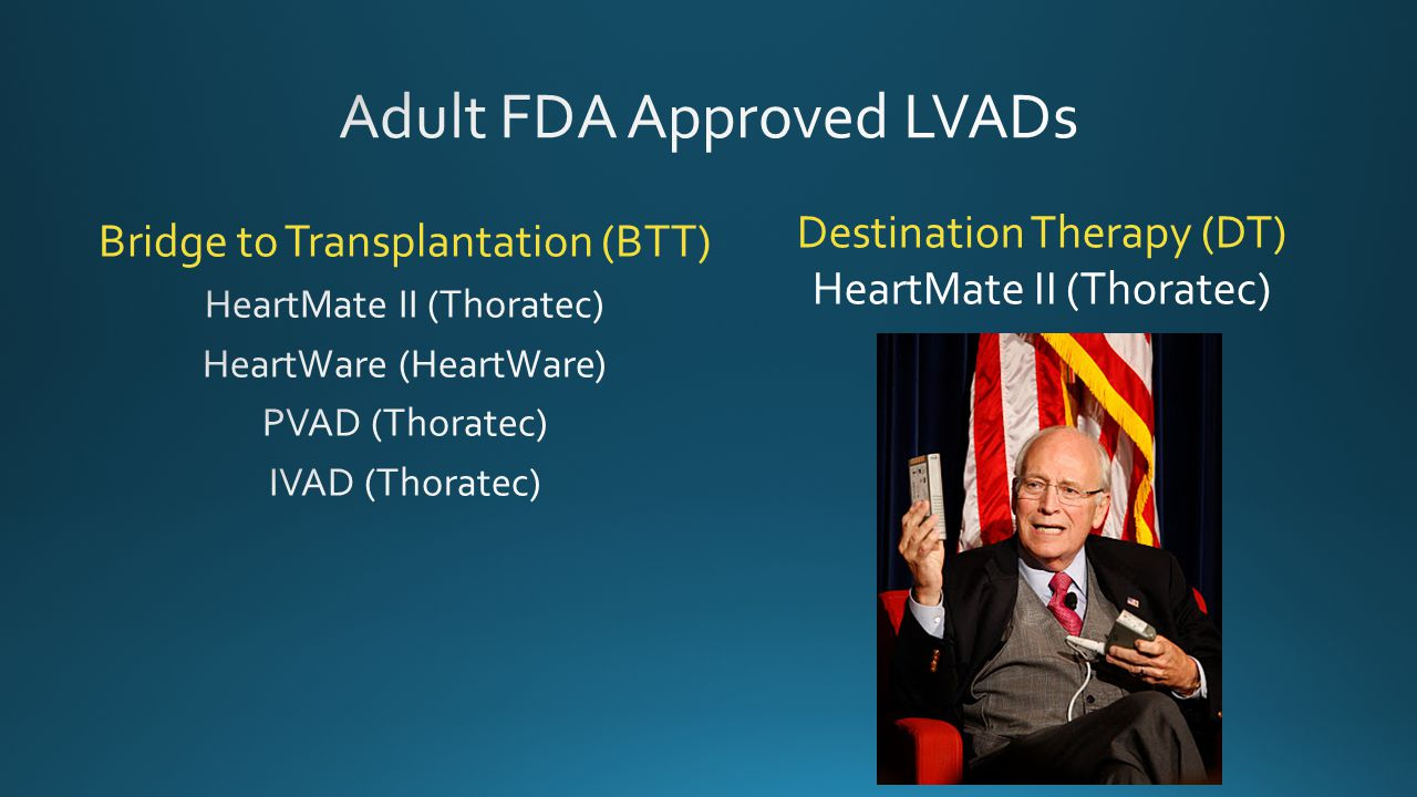 Adult FDA Approved LVADs