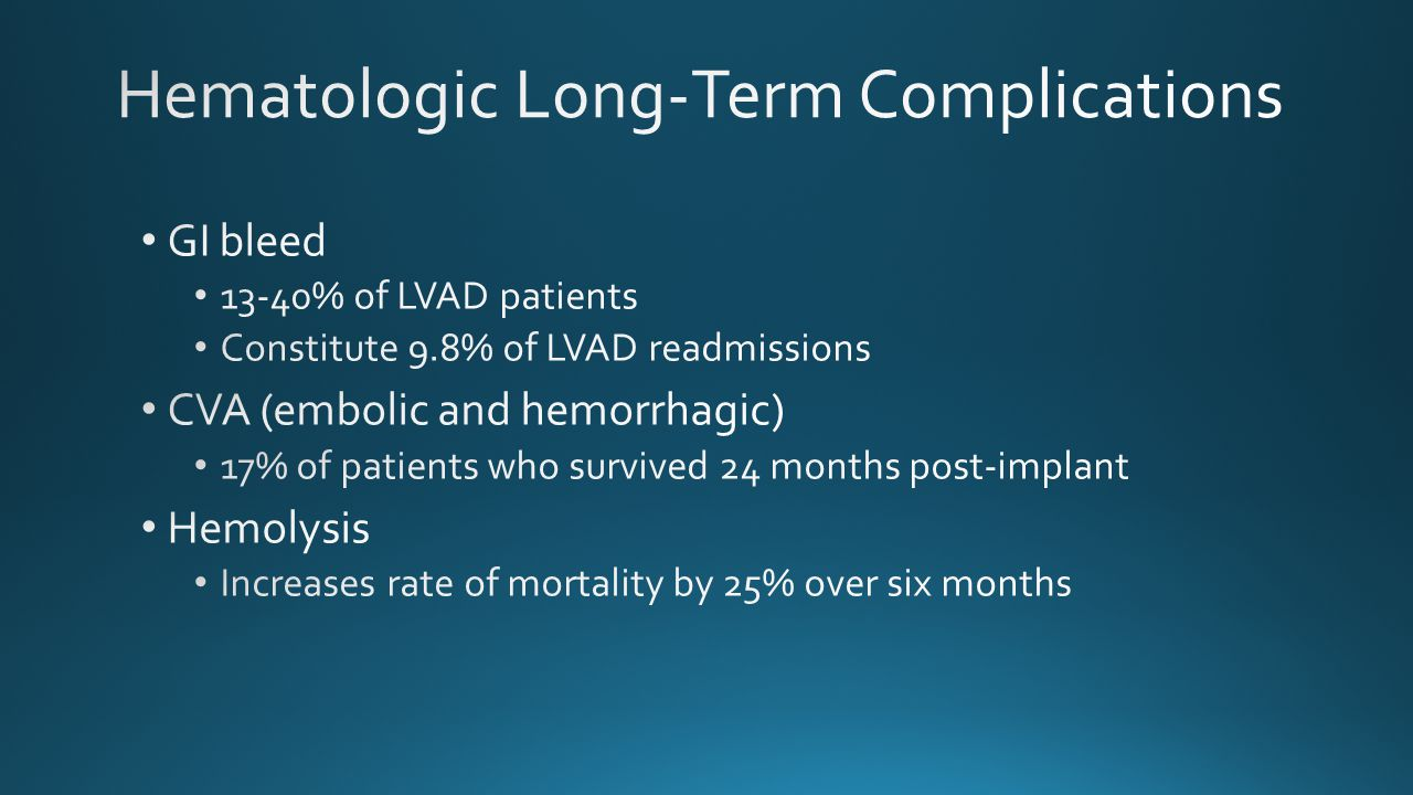 Hematologic Long-Term Complications