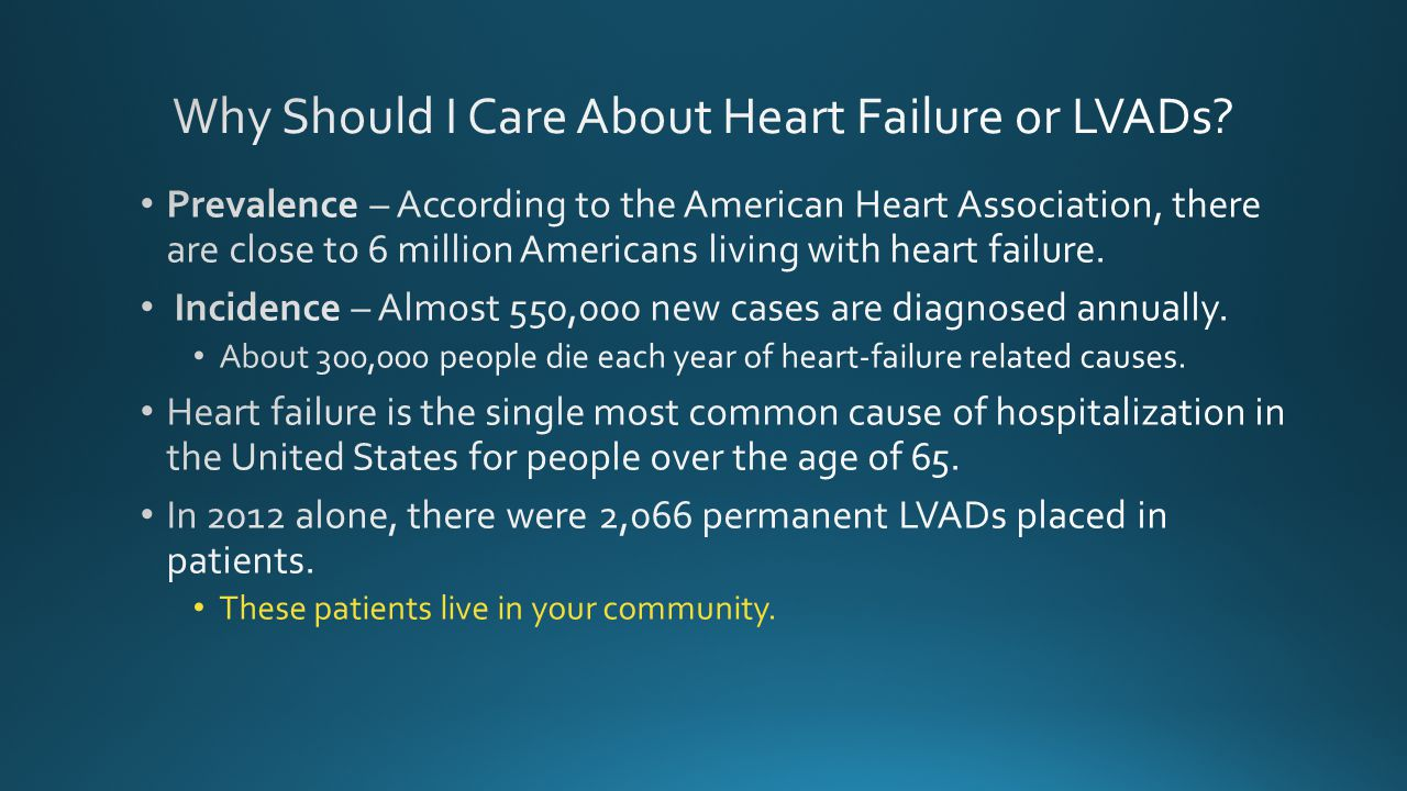 Why Should I Care About Heart Failure or LVADs