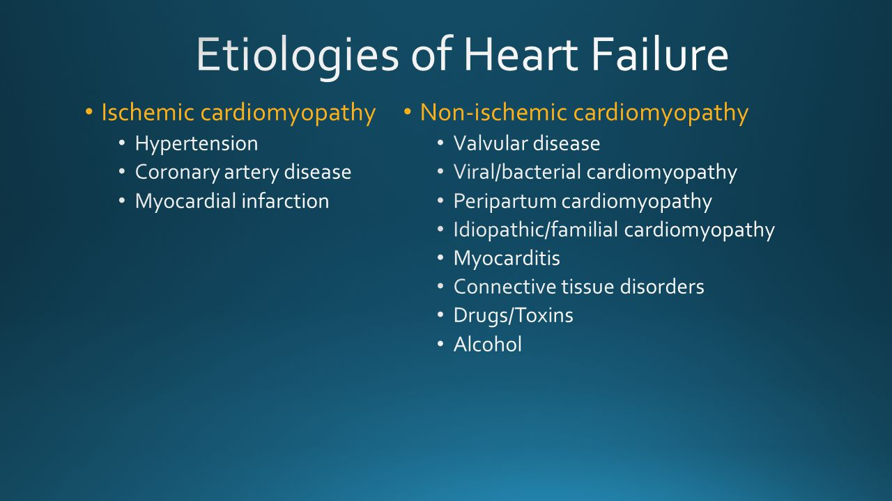 Etiologies of Heart Failure