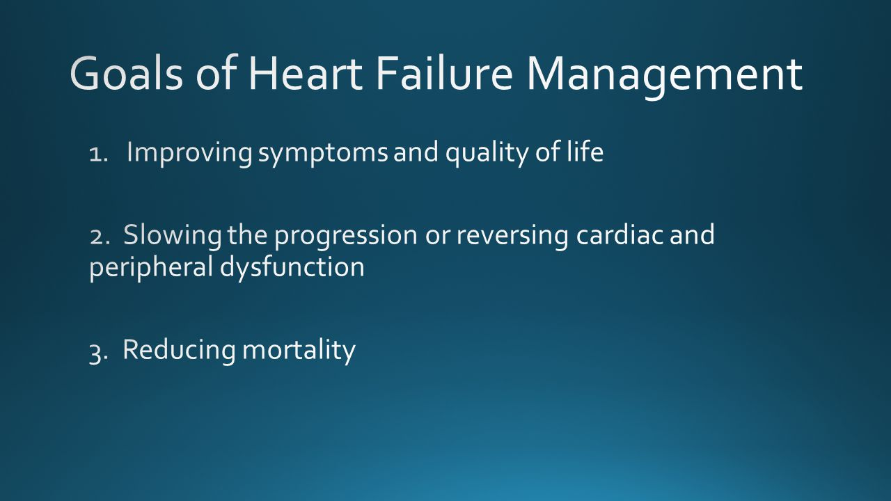 Goals of Heart Failure Management