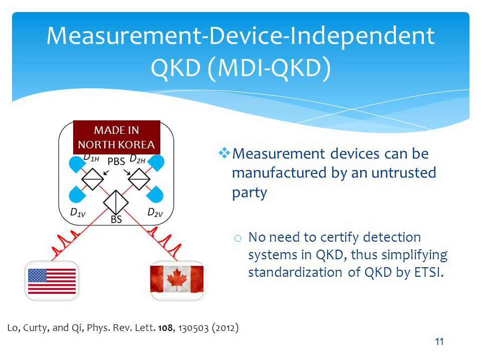 Measurement-Device-Independent QKD (MDI-QKD)