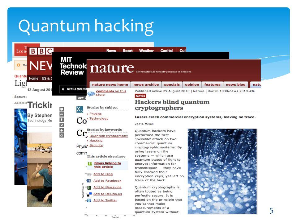 Quantum hacking