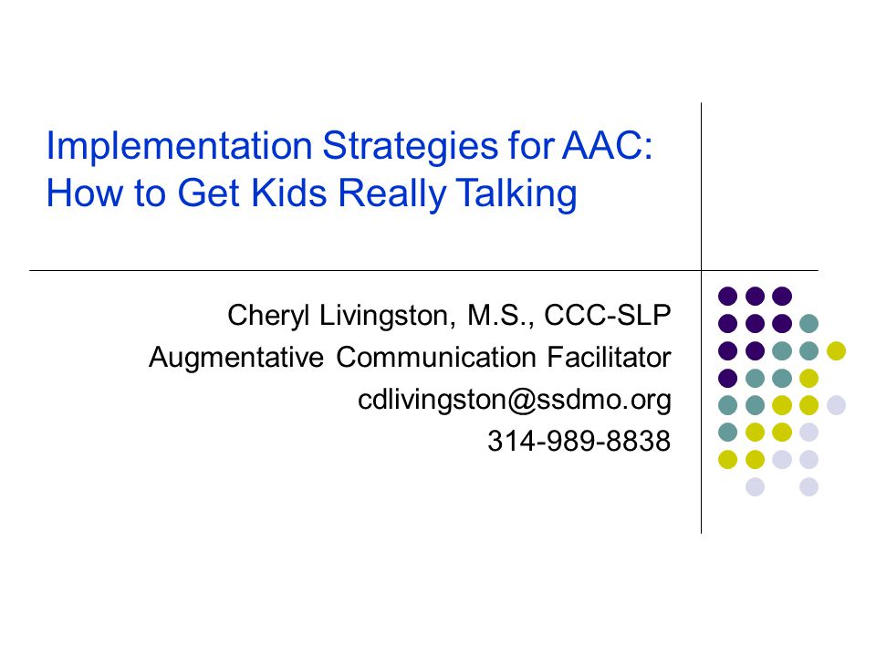 Implementation Strategies for AAC: How to Get Kids Really Talking