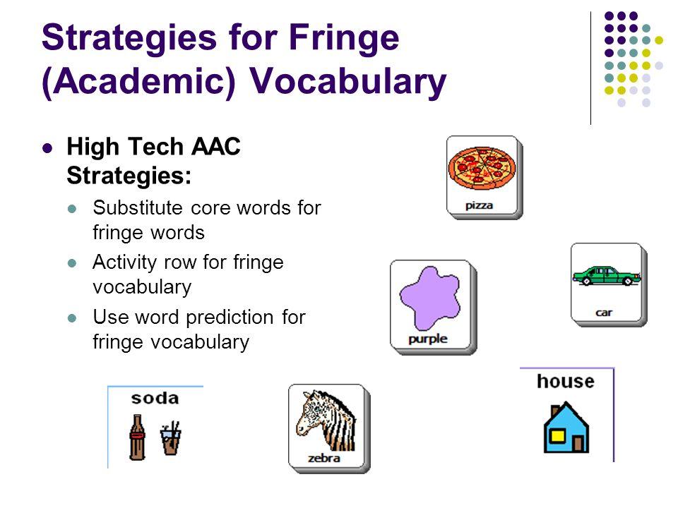 Strategies for Fringe (Academic) Vocabulary