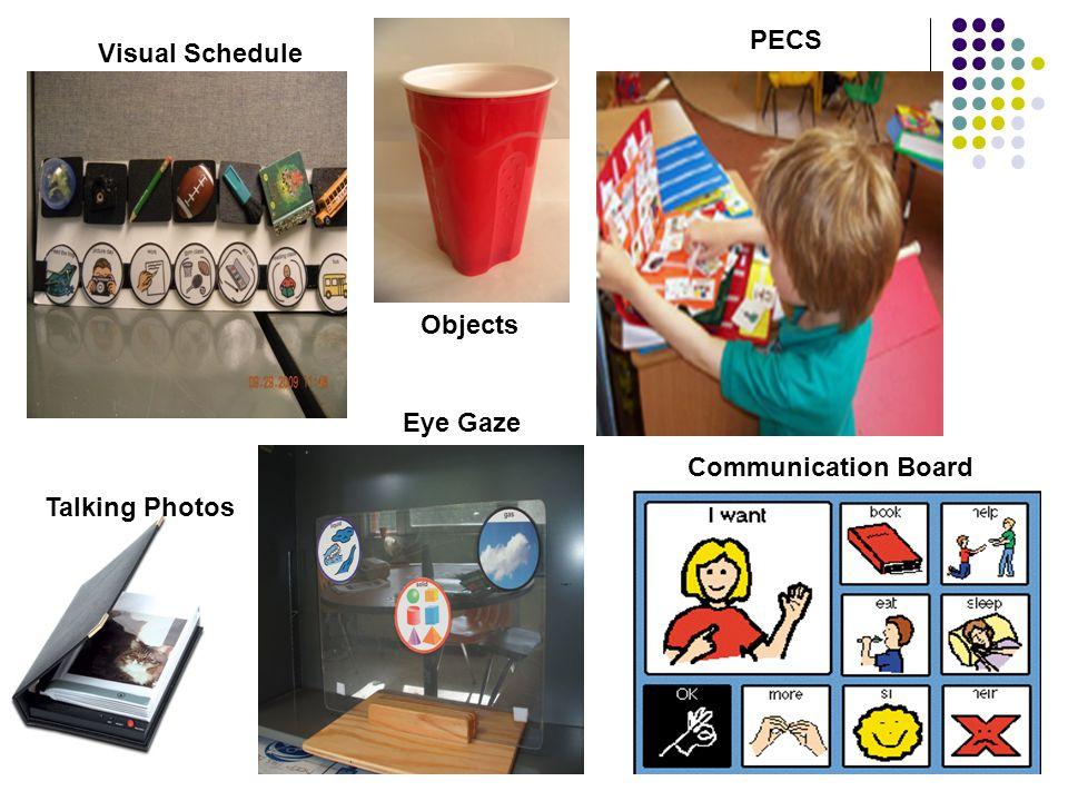 PECS Visual Schedule Objects Eye Gaze Communication Board Talking Photos