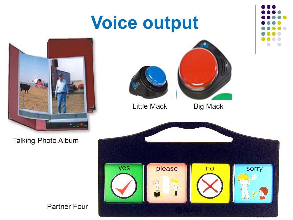 Voice output Little Mack Big Mack Talking Photo Album Partner Four