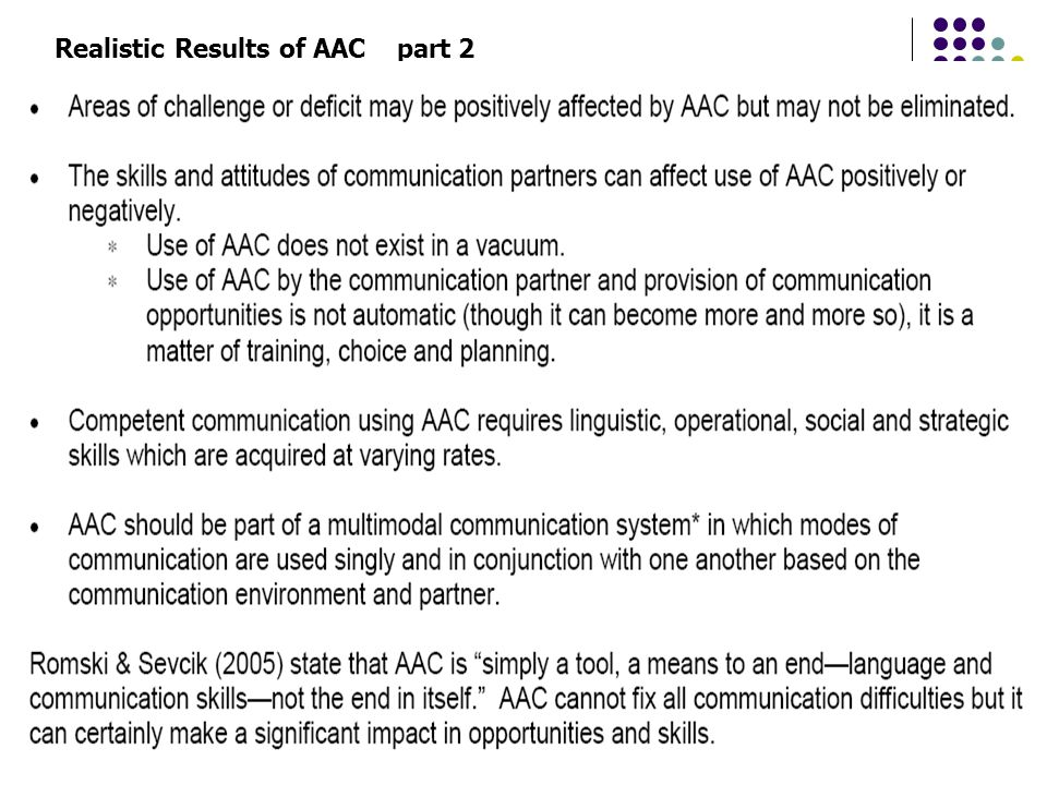 Realistic Results of AAC part 2