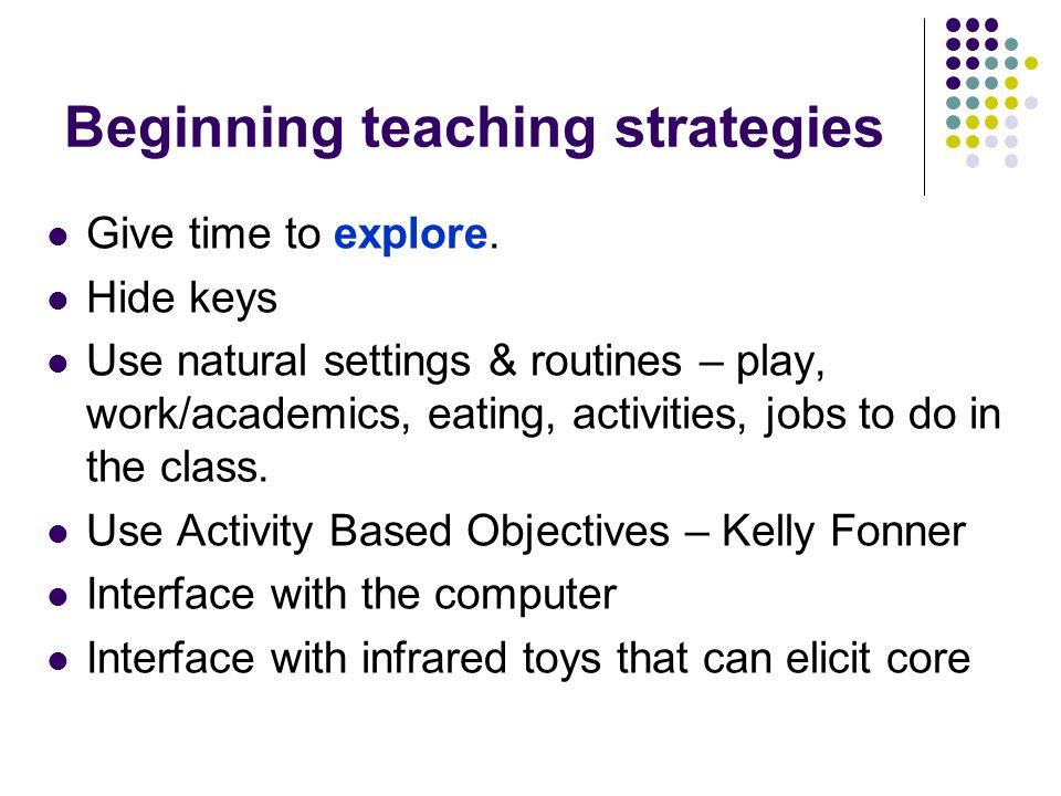 Beginning teaching strategies