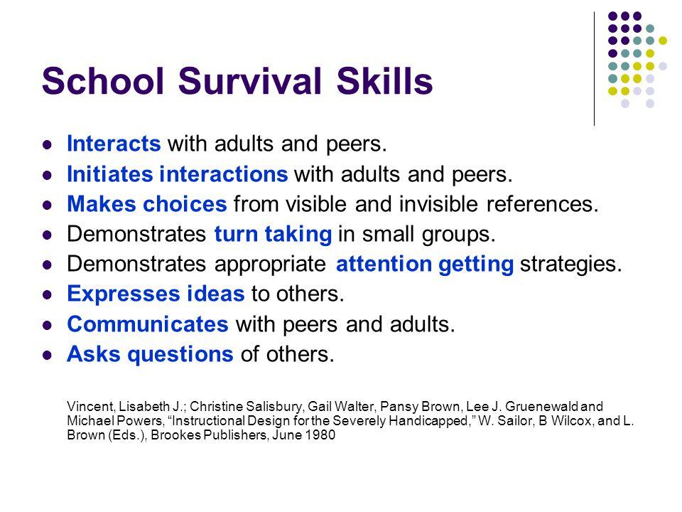 School Survival Skills