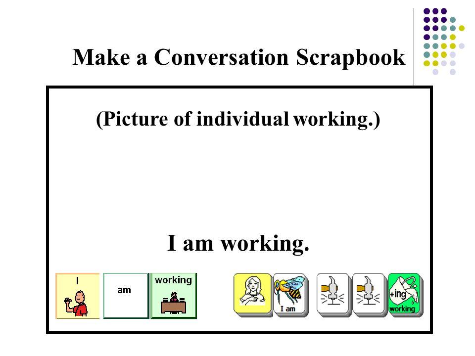 Make a Conversation Scrapbook