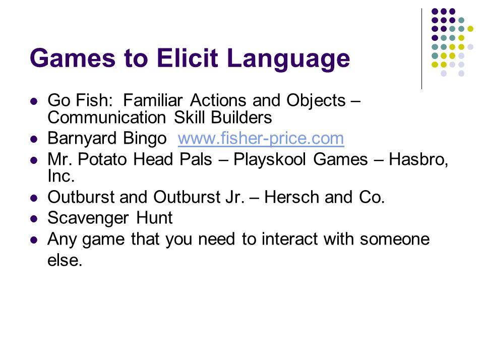 Games to Elicit Language