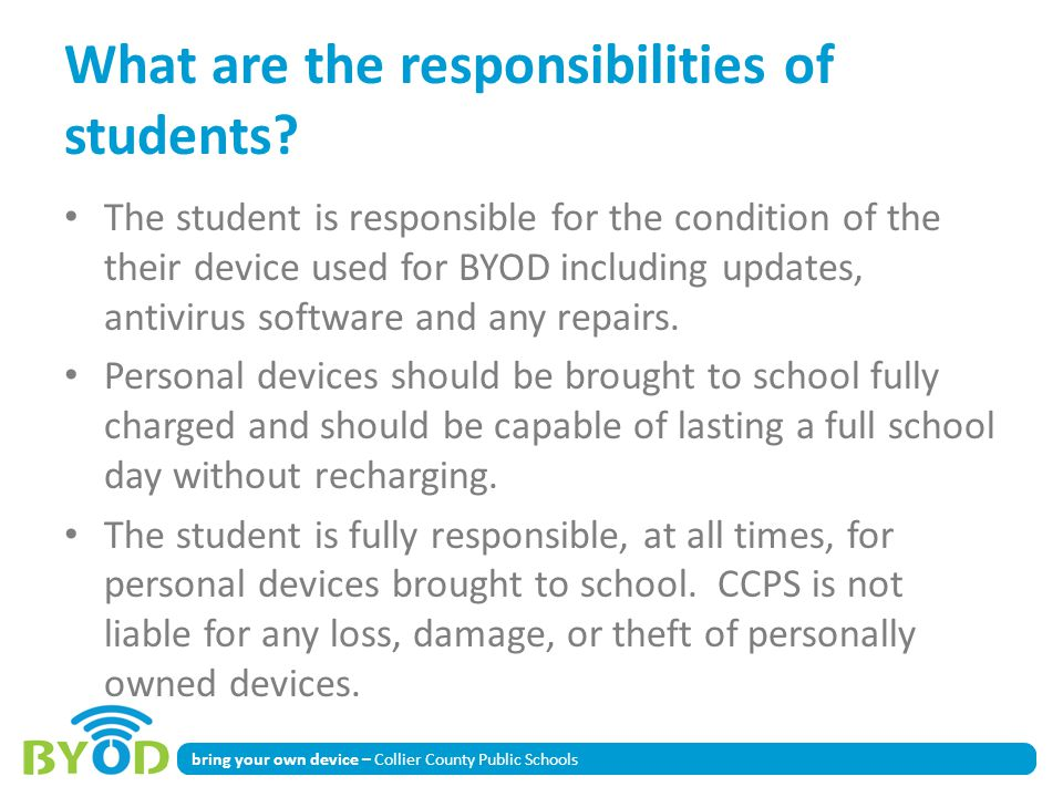 What are the responsibilities of students
