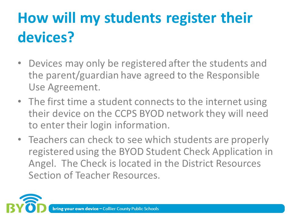How will my students register their devices