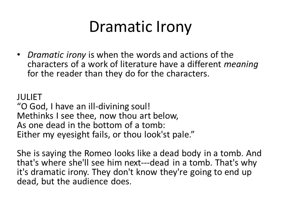 Dramatic Irony