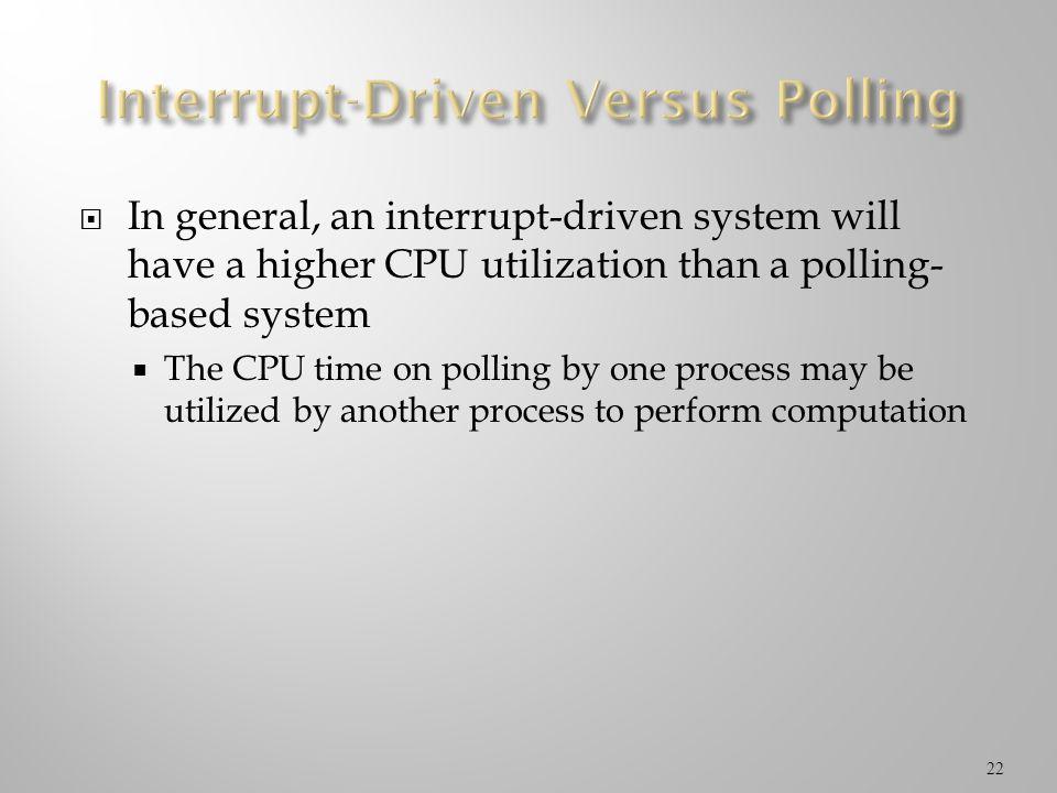 Interrupt-Driven Versus Polling