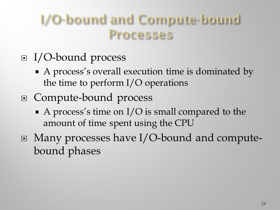 I/O-bound and Compute-bound Processes